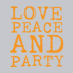 Napkins: Paper Products - Lunch Love & Party Orange
