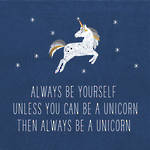 Lunch Napkins Paper Products Always Unicorn Blue