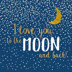 Lunch Napkins Paper Products Moon Love Dark Blue