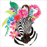 Lunch Napkins Paper Products Flora Zebra