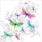 Lunch Napkins Paper Products Pizazz Dragonfly