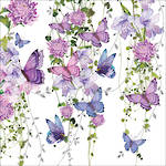 Lunch Napkins Paper Products Pizazz Butterflies