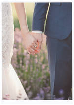 Wedding Card Palm Press Holding Hands