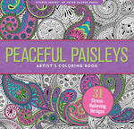 Artist Colouring Book Peace Paisley