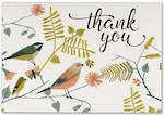 Thank You Note Cards Songbirds