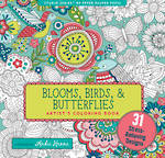 Artist Colouring Book Blooms Birds