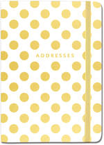 A6 Address Book Gold Dots