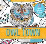 Artist Colouring Book Owl Town