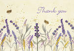 Thank You Note Cards Lavender & Honey