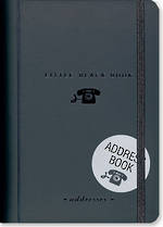 A6 Address Book Little Black Book