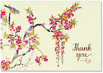 Thank You Note Cards Blossoms & Bluebirds