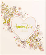 Anniversary Card Avocado Heart