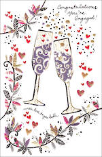 Engagement Card Artisan Champagne