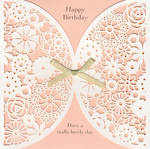 Female Birthday Card: English Rose Peach