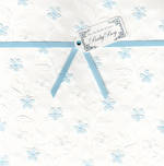 Baby Card Boy Ribbon Flowers