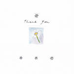 Thank You Card Avocado Square Daisy