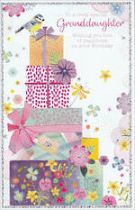 Grandaughter Birthday Card Dreamcatcher Tall