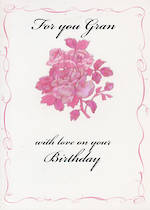 Grandmother Birthday Card Avocado Gran Bouquet
