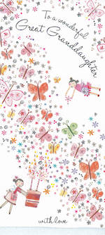 Grandaughter Birthday Card: Daisy Patch Great Granddaughter
