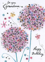 Grandmother Birthday Card Daisy Patch For You