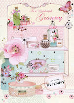 Grandmother Birthday Card Florentine Granny
