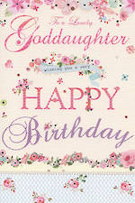 Goddaughter Birthday Card: Florentine Lovely