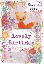 Mini Card Lovely Birthday Fox