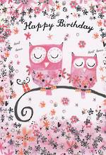 Mini Card: Daisy Patch Owls