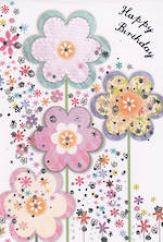 Mini Card Daisy Patch Big Flowers