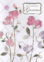 Grandmother Birthday Card Hanami Lovely