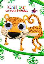 Kids' Birthday Card: Marzipan Toybox Leopard