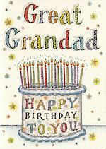 Grandad Birthday Card Neapolitan Great Grandad