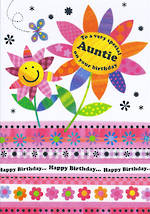 Aunt Birthday Card: Portobello Auntie