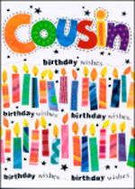 Cousin Birthday Card Portobello Candles