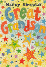 Grandson Birthday Card Portobello Greatgrandson