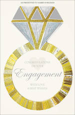Engagement Card Large Diamond Ring Royal