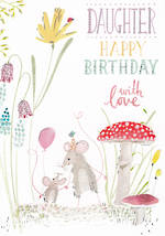 Daughter Birthday Card: Periwinkle Happy