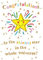 Congratulations Card: Catching Rainbows Star