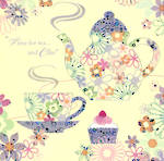 Birthday Card: Santa Fe Tea & Cake