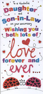 Anniversary Card Daughter & Son-in-Law Sugar Pips Forever & Ever