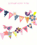 Candy Birthday Wishes Bunting