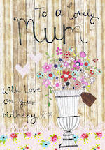 Mum Birthday Card To A Lovely Mum Flowers