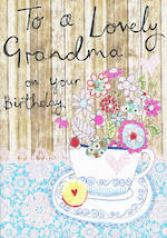 Grandmother Birthday Card Lovely Teacup