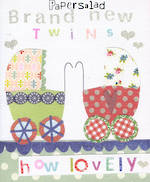 Baby Card Twins Joy Brand New