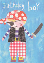 Kids' Birthday Card: Lally-Do Pirate
