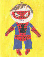 Mini Card Paper Salad Spiderman