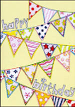 Birthday Card: Oops A Daisy Flags