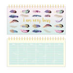 Pizazz Feathers Weekly Planner