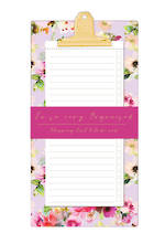 Lilac Bloom Magnetic Shopping List Pad