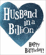 Husband Birthday Card The Bright Side Billion